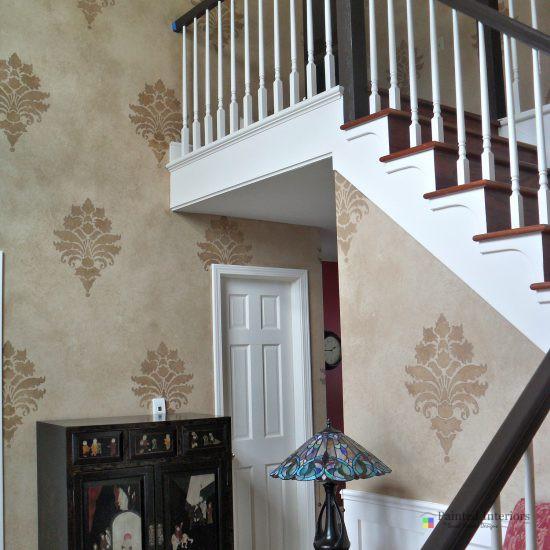 Stenciled Stairway