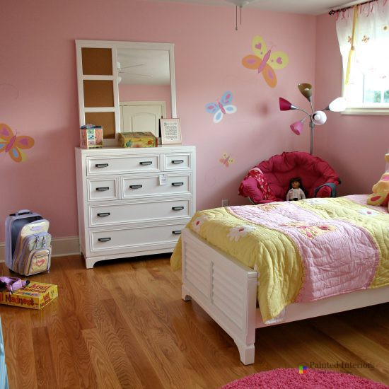 hand painted butterfly girl's room