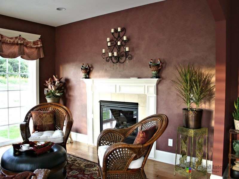 faux suede painted walls