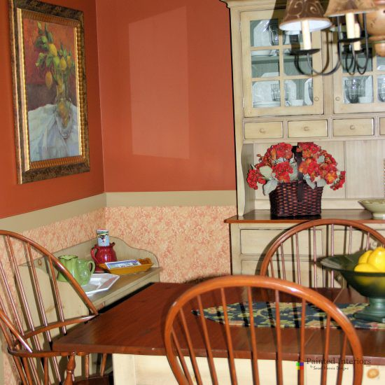 lower wallpaper with coordinating upper paint