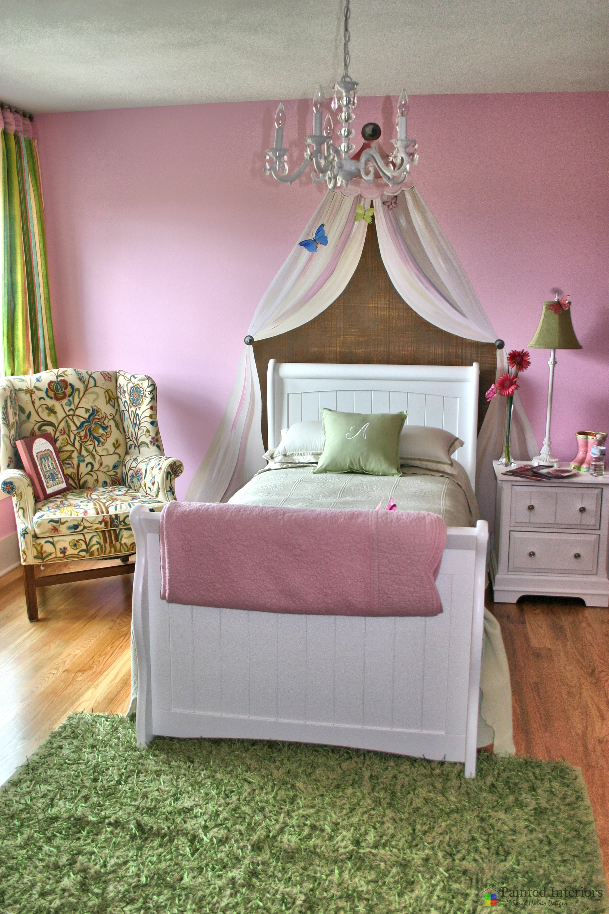 princess room with hand painted canopy