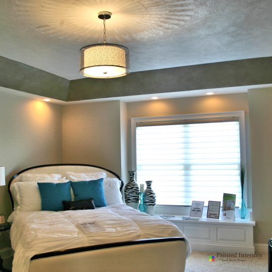 faux painted trey ceiling